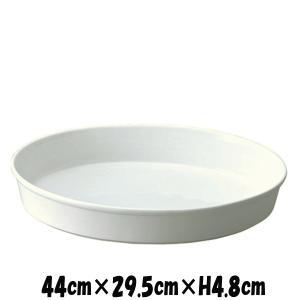 Buffet 44cmオーバルプラター オーブン対応グラタン皿ドリア皿 白い陶器磁器の耐熱食器 おしゃれな業務用洋食器 お皿特大皿深皿|deardishbasara