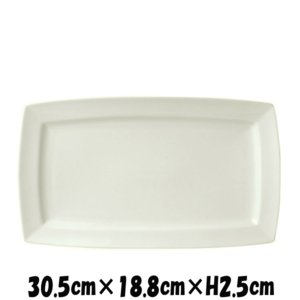カレ 30.5プラター 割れにくい強化硬質磁器 白い陶器磁器の食器 おしゃれな業務用洋食器 スクエアプレート お皿特大皿平皿|deardishbasara