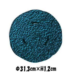 monnaケーキプレートEG エメラルドグリーン ガラスの食器 おしゃれな業務用洋食器 お皿特大平皿