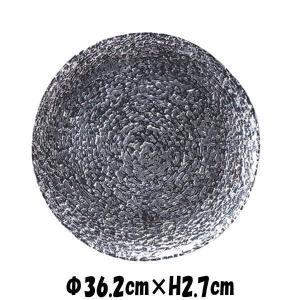 monna36cmセンタープレートSLV シルバー 銀色のガラスの食器 おしゃれな業務用洋食器 お皿...