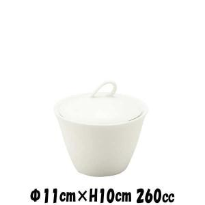 11cm蓋物 白 割れにくい強化硬質磁器 シュガーポット砂糖入れ カフェ食器 陶器磁器 おしゃれな業務用食器|deardishbasara