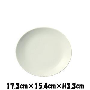 OV 17cm深皿 白い陶器磁器の食器 おしゃれな業務用洋食器 お皿中皿平皿
