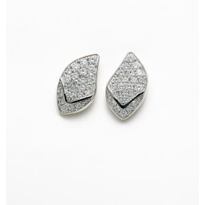 18KWG H&C ダイヤモンドピアス 計0.3ctUP[リーフ]|dears-hokusetsu