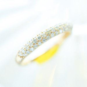 K18YG ダイヤリング  dears-hokusetsu