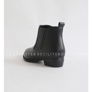 ショートブーツ レディース ブーティ ショートブーツ 黒 ブラック レザー 歩きやすい 痛くない deciliter 05