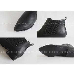 ショートブーツ レディース ブーティ ショートブーツ 黒 ブラック レザー 歩きやすい 痛くない deciliter 06