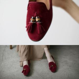 ローファー レディースシューズ タッセル オペラシューズ スエード おじ靴 オックスフォード ペタンコ  婦人靴 革靴 ヒール パンプス  メンズライク|deciliter|02
