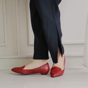 パンプス ローヒール フラットシューズ ぺたんこ ペタンコ レザー 黒 ブラック ピンク ポインテッドトゥ レディース 靴 婦人靴 歩きやすい ローファー|deciliter