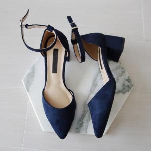 パンプス アンクルストラップ ローヒール  スエード 黒 ブラック ピンク ポインテッドトゥ レディース 靴 婦人靴 歩きやすい 痛くない|deciliter