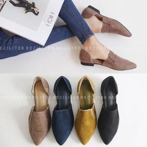 フラットシューズ パンプス ローヒール  ぺたんこ ペタンコ スエード 黒 ブラック ベージュ  ポインテッドトゥ レディース 靴 婦人靴 歩きやすい 痛くない|deciliter