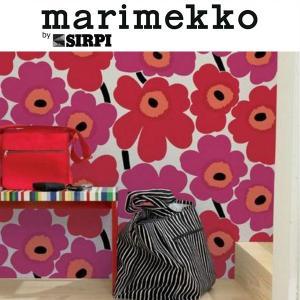 壁紙  輸入壁紙 マリメッコ ウニッコ レッド 13071 輸入 marimekko クロス張替え ...