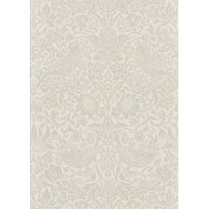 輸入壁紙 ウィリアムモリス PURE MORRIS ピュアモリス いちご泥棒 ストロベリーチーフ 白 ビーズ付き  216020|decoall