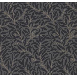 輸入 ウィリアムモリス PURE MORRIS(ピュアモリス) Pure Willow Bough  ウィロー 216026 黒 輸入壁紙|decoall