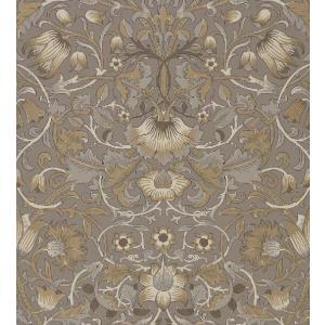 壁紙 ウィリアムモリス PURE MORRIS(ピュアモリス) Pure Lodden ピュアロデン 216028 茶  輸入壁紙|decoall