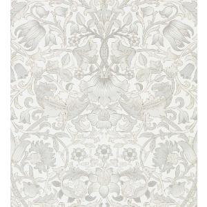壁紙 ウィリアムモリス PURE MORRIS(ピュアモリス) Pure Lodden ピュアロデン 216030 白 グレー 輸入壁紙|decoall