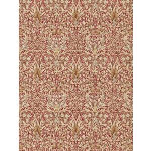 壁紙  ウィリアムモリス スネークスヘッド MORRIS&CO「コレクター」 216426 赤 ベージュ 花柄 輸入壁紙|decoall