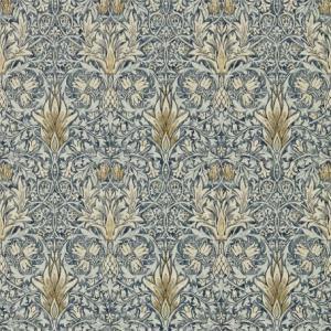 壁紙  ウィリアムモリス スネークスヘッド MORRIS&CO「コレクター」 216428 ブルー 花柄 輸入壁紙|decoall