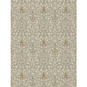 壁紙  ウィリアムモリス スネークスヘッド MORRIS「コレクター」光沢あり  216430 グレー シルバー 花柄 輸入壁紙|decoall