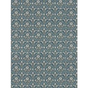 壁紙  ウィリアムモリス ベルフラワーズ MORRIS「コレクター」 216436 紺色 ブルー 花柄 輸入壁紙|decoall