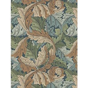 壁紙  ウィリアムモリス アカンサス MORRIS「コレクター」 216440 緑 ベージュ 葉っぱ柄 輸入壁紙|decoall