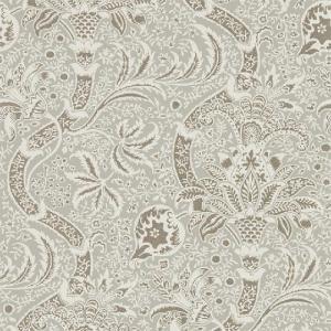 壁紙  ウィリアムモリス インディアン MORRIS&CO「コレクター」 216444 グレー 花柄 輸入壁紙 INDEAN|decoall