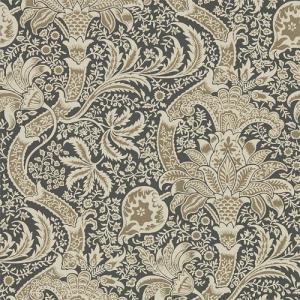 壁紙  ウィリアムモリス インディアン INDIAN MORRIS&CO「コレクター」 216445 茶色 花柄 輸入壁紙 |decoall