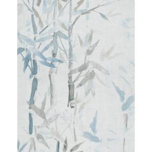 輸入壁紙  ESPOIR NEW AGE  国内在庫 219463 竹 水彩画 クリーム色 青 緑 アジアンテイスト CASAMANCE テシード DIY |decoall