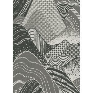 輸入壁紙  ESPOIR NEW AGE  国内在庫 2764-24331 グレー 波模様 和柄 和モダン ふすま BREWSTER テシード DIY |decoall