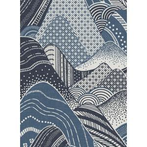輸入壁紙  ESPOIR NEW AGE  国内在庫 2764-24333 ブルー 青 波模様 和柄 和モダン ふすま BREWSTER テシード DIY |decoall