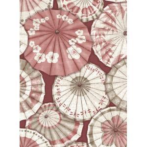 輸入壁紙  ESPOIR NEW AGE  国内在庫 2764-24359 赤 ピンク 和傘 和柄 和モダン ふすま BREWSTER テシード DIY |decoall