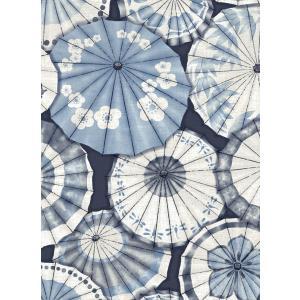 輸入壁紙  ESPOIR NEW AGE  国内在庫 2764-24361 ネイビーブルー 和傘 和柄 和モダン ふすま BREWSTER テシード DIY |decoall