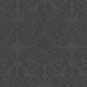 輸入壁紙 UTOPIA5 ダマスク柄 ブラック 30396-5|decoall