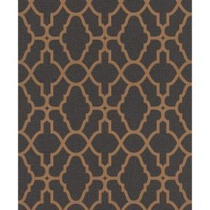 rasch 2020 輸入壁紙 309331 ゴールド ブラック 幾何学 モダン クロス 10m巻 DIY はがせる ドイツ製  国内在庫品|decoall