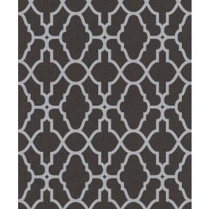 rasch 2020 輸入壁紙 309348 シルバー ブラック 幾何学 モダン クロス 10m巻 DIY はがせる ドイツ製  国内在庫品|decoall