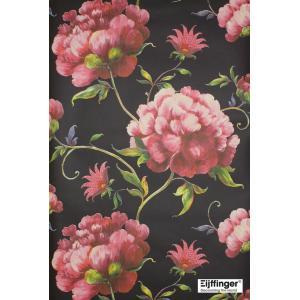 輸入壁紙(不織布) TECIDO YOSOY 花柄ブラック 331501|decoall