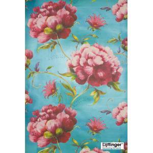 輸入壁紙(不織布) TECIDO YOSOY 花柄ブルー 331505|decoall