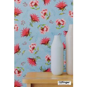 輸入壁紙 花柄ライトブルー フリース製 Eijffinger(アイフィンガー)|decoall