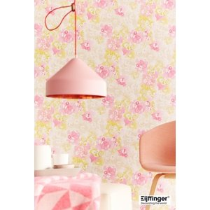 輸入壁紙(不織布) TECIDO YOSOY 花柄ピンク 331521|decoall