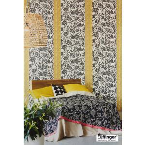 輸入壁紙 花柄モノトーン(白黒) フリース製 Eijffinger(アイフィンガー)|decoall