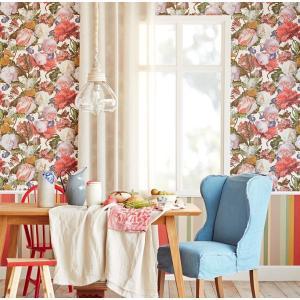 輸入壁紙 MASTERPIECE 花柄 ホワイト 358005|decoall