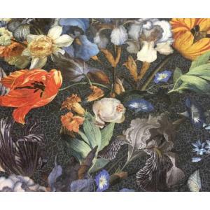 輸入壁紙 MASTERPIECE 花柄 ブラック 358010|decoall