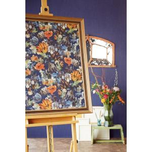 輸入壁紙 MASTERPIECE 花柄 ネイビー 358012|decoall