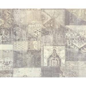 輸入壁紙 MASTERPIECE 緞通柄 ライトグレー 358032|decoall