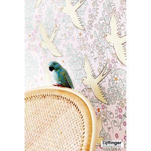 rice ライス 壁紙 359021 バード(鳥柄) ピンク 輸入|decoall