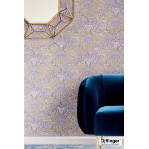 輸入壁紙  FUSION 366013  テシード 和モダン 黄土色 ピンク パープル マスタード 国内在庫品 クロス はがせる 10m巻 壁紙 |decoall