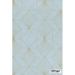 輸入壁紙  FUSION 366071  テシード 幾何学 ライトブルー ゴールド モダン  国内在庫品 クロス はがせる 10m巻 壁紙 |decoall