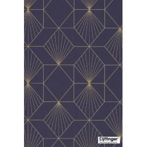 輸入壁紙  FUSION 366072  テシード 幾何学 ダークブルー ネイビー ゴールド モダン  国内在庫品 クロス はがせる 10m巻 壁紙 |decoall