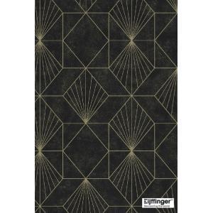 輸入壁紙  FUSION 366073  テシード 幾何学 ブラック ゴールド モダン  国内在庫品 クロス はがせる 10m巻 壁紙 |decoall