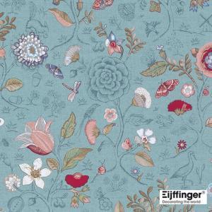 PIPSTUDIO4  375003 輸入壁紙 花 鳥 動物 昆虫 カラフル ライトブルー 青 DIY 貼ってはがせる オランダ製 10m巻|decoall
