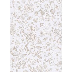 PIPSTUDIO4  375010 輸入壁紙 花 鳥 動物 昆虫 ホワイト 白  DIY 貼ってはがせる オランダ製 10m巻|decoall